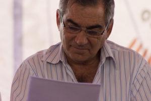 Ministro Gilberto Carvalho lendo a carta política do III ENA. Foto: Fabio Caffé/Imagens do Povo.