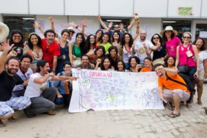 Sem Comunicação Popular, Não há Agroecologia.  Equipe de Comunicação do III ENA. Foto: Fábio Caffe / Imagens do Povo