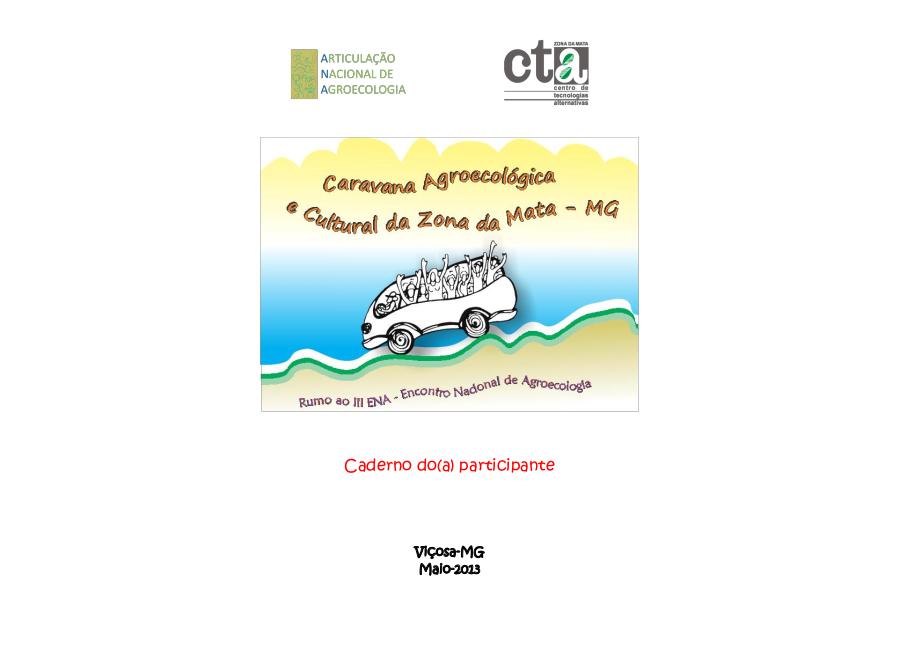Caderno da/o participante: Caravana Agroecológica e Cultural da Zona da Mata ao III ENA